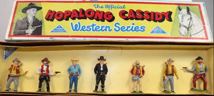 6x5cm Figurine old timpo toys wild west series cowboy no 2